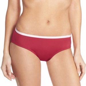 Kate spade dive right in red bikini bottoms